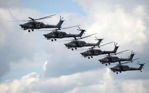пилотажная группа, построение, ввс россии, ми28