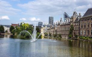 гаага, нидерланды, города, - фонтаны