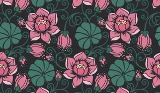 seamless, Floral, бесшовный, Цветы, паттерн, pattern