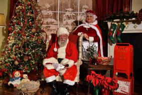 праздничные, дед мороз,  санта клаус, елка, санта, камин