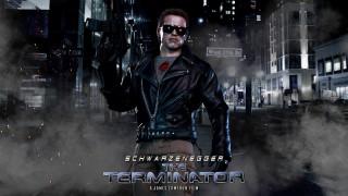 кино фильмы, terminator, фон, мужчина, автомат, очки
