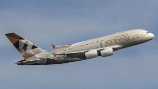 самолёт, летит, пассажирский самолёт, Airbus A380