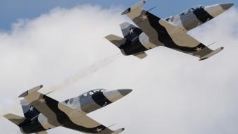 авиация, боевые самолёты, истребители, небо, боевое, звено, военная