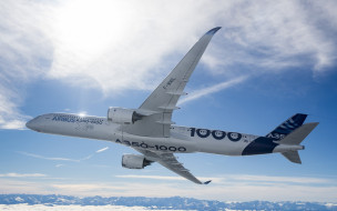 авиация, пассажирские самолёты, airbus, а350, аэробус, a350-1000