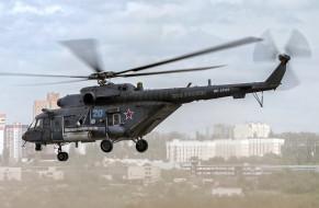 ВВС России, Mi-8, Ми-8АМТШ, вертолёт, летит, Ми-8