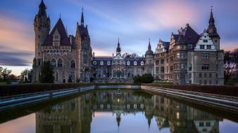 moszna castle, города, замки польши, moszna, castle