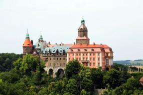 ksiaz castle, города, замки польши, ksiaz, castle
