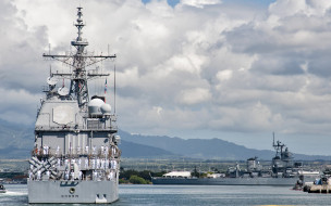 us navy, jbphh, перл харбор, вмс сша, ракетный крейсер, uss chosin