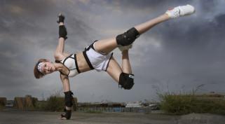 азиатка, тренировка, спорт, девушка
