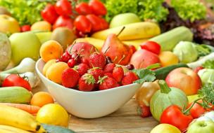 кабачок, чеснок, клубника, абрикосы, помидоры