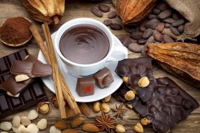 шоколад, орехи, какао