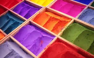 разное, - другое, ячейки, порошки, краски, цвета