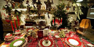 праздничные, сервировка, украшения, приборы, свечи