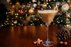 праздничные, угощения, шишка, елка, напиток