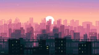 Пиксели, 8Bit, Город, Synthpop, Музыка, Солнце, Закат, Stas Fedorov, Synth pop, Synthwave, Retrowave, Synth, Darkwave, New Retro Wave