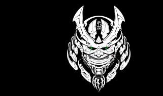 Cyber Samurai mask, маска, арт, Seryoga Biryukov, самурай