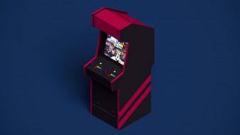 кнопки, файтинг, экран, игровой автомат, драка, джойстик