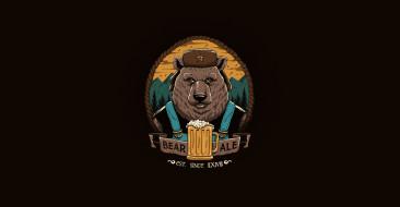 Арт, Медведь, Papa beer and bear ale, Bear ale, Day, Vincenttrinidad, Vincenttrinidad, Beer, Bear, Пиво, Рисунок