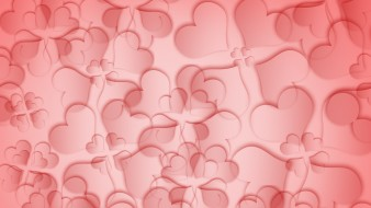 background, pink, texture, flower, love, red, leafs, abstraction, hearts