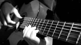 музыка, -музыкальные инструменты, руки, гитара, черно, белое, фото