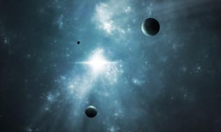 обои для рабочего стола 2495x1498 космос, арт, звезды, вселенная, планета