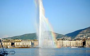 женева, города, - фонтаны