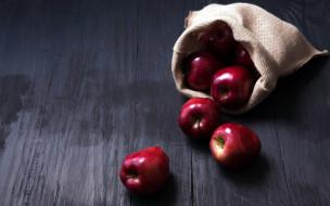 краснобокие, яблоки