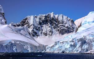 вершины, горы, снег