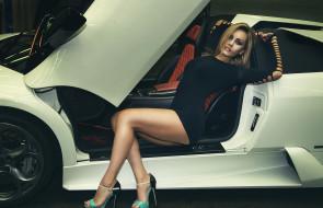 обои для рабочего стола 1920x1240 автомобили, -авто с девушками, девушки, авто