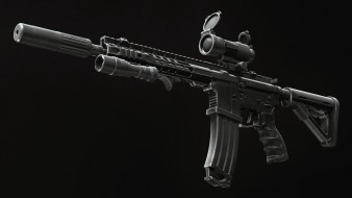 фонарик, custom, м16, m16, ar-15, глушитель, оружие, render, assault rifle, винтовка, weapon, assault Rifle