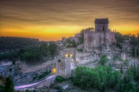 atardecer en el castillo de alarcon , cuenca- espa&, 241, города, замки испании, простор