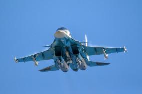 Su-34 обои для рабочего стола 2048x1366 su-34, авиация, боевые самолёты, россия, ввс