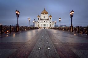 cathedral of christ the savior, города, москва , россия, простор