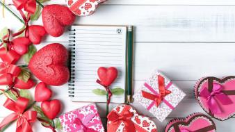 праздничные, день святого валентина,  сердечки,  любовь, банты, сердечки