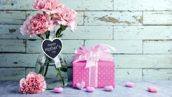праздничные, день матери, гвоздики, подарок