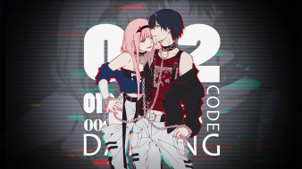 аниме, darling in the frankxx, пара