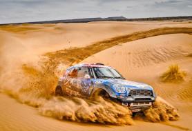 Гонка, Жара, Mini, MINI Cooper, Песок, X-Raid, Дюна, Raid, Скорость, Пустыня, Спорт, Rally, Ралли