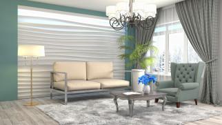 цветок, дизайн, мебель, интерьер, люстра, гостиная