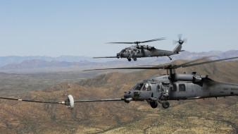 hh-60 pave hawk, военный вертолет, ввс сша, sikorsky, дозаправка