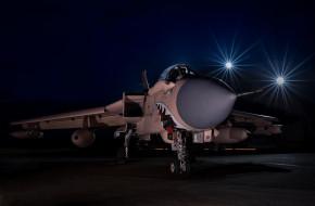 авиация, боевые самолёты, panavia, tornado, самолёт, пасть, зубы, ночь