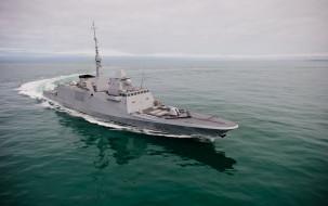 французский военно-морской флот, маневр, открытое море, фрегат, wallhaven, french navy, fremm frigate