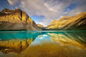 природа, реки, озера, bow, lake, banff, national, park, canada, alberta