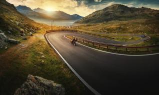 природа, дороги, дорога, утро