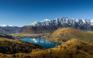 города, - пейзажи, панорама, горы, озеро