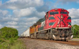 техника, поезда, локомотив, состав