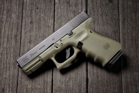 glock 23 gen 4 battlefield green, оружие, пистолеты, ствол