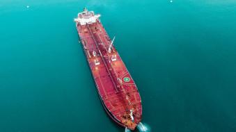 транспортное средство, море, вид сверху, судно, палуба, нефтяной танкер
