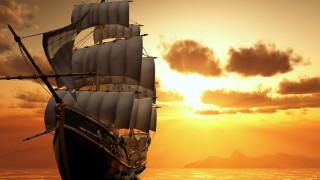 корабли, 3d, парусник