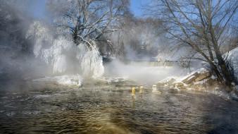 река, Зима