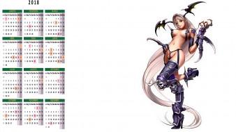календари, фэнтези, взгляд, девушка